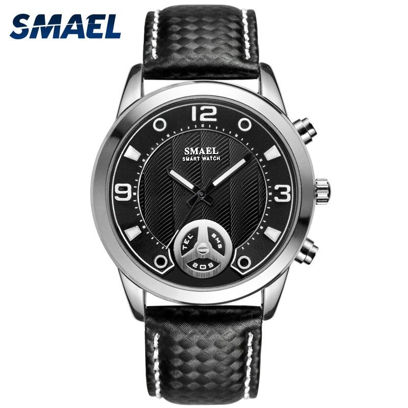 Hommes Montres Numérique SMAEL Nouvelle Alliage Montre Grand Cadran Bluetooth Smart Watch Horloge Hommes Sport Étanche SL1385 Numérique Montre De Luxe