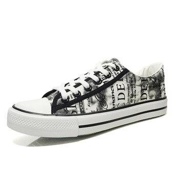 Мужская парусиновая обувь на плоской подошве Loafrs на платформе повседневные кроссовки мужские туфли-лодочки Вулканизированная обувь модна... >> Shop3865041 Store