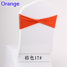 Colour Orange spandex sashes lycra sash for chair cover spandex bands bow tie For Wedding Decoration banquet design on sale(China)
