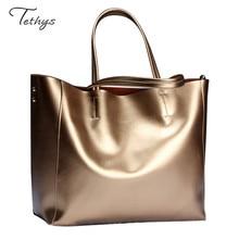 Luxury Genuine Leather Women Handbag Fashion Design Cowhide Casual LadiesShoulder Bag  Large capacity  Female bag Sac a main