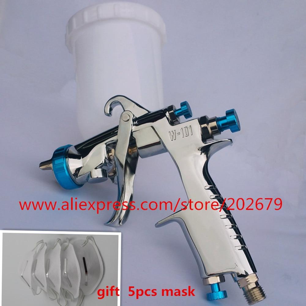 plastic 400cc cup SPRAY GUN W 101 air spray gun hand manual spray gun,1.0/1.3/1.5/1.8mm Japan quality,W101 SPRAYER air spray gun-in Spray Guns from Tools on