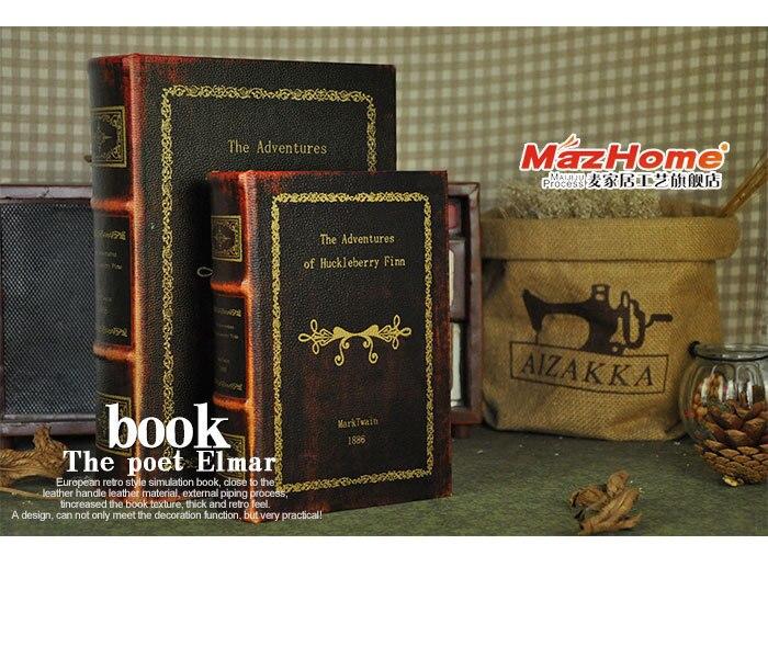 Европейский Винтаж поддельные книги модель Декоративные Ящик для хранения украшений Приключения Гекльберри Финна Марка Твена поставки