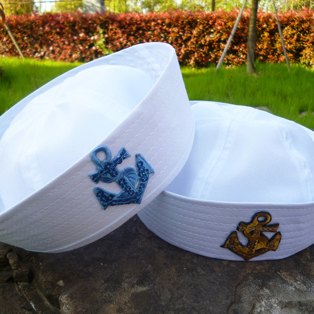Kid's Anchor Embroidery Cotton Cap 2