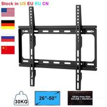 """Suporte de parede lcd para tv, suporte ajustável para tv e plasma para 26 """" 50"""", peso máximo de 30kg"""