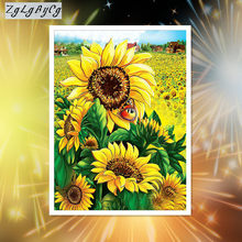 Diamond embroidery flower 5D diamond cross stitch full diamond sets decorative Diy Diamond painting sunflower(China)