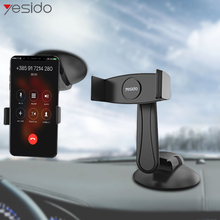 Yesido C43 Universal 4-6.5 Inch Car Phone Holder Sucker Windshield Dashboard Mount For In GPS Stand