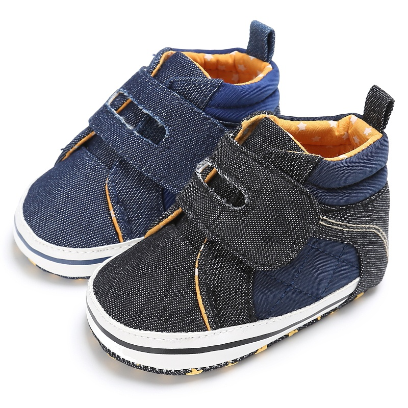2017 Fashion Handsome Newborn Baby Kids Boys Shoes Spring Autumn First Walkers Crib Baby Soft Soled High Top Sneakers Boots
