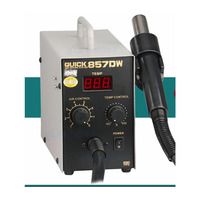 Free Shipping By DHL QUICK 857DW Lead Free Adjustable Hot Air Heat Gun With Helical Wind