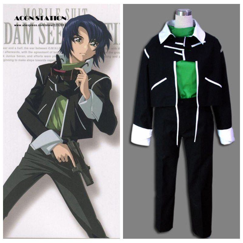 2018 Top Selling Mobile Suit Gundam Seed Anime Athrun Zala Child Cosplay Costume Customize for plus size adults and kids