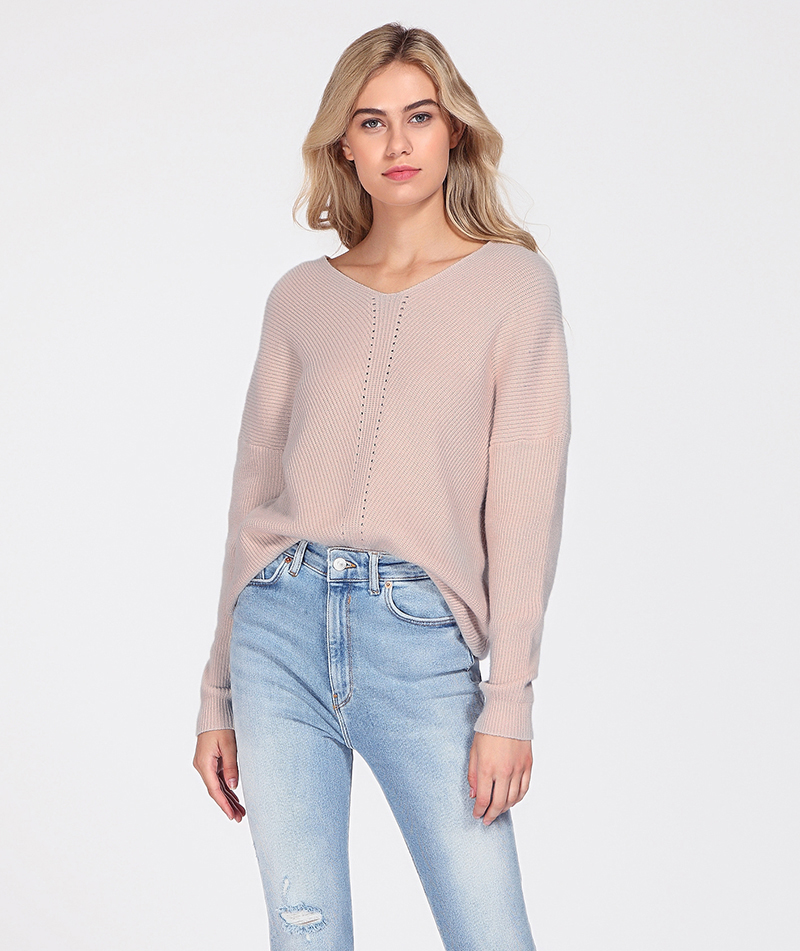 WOTWOY Autumn Winter Knit Pullovers Women Long Sleeve Basic Cashmere Sweater Women Pullover Knitted Casual Blue Female Jumper 11