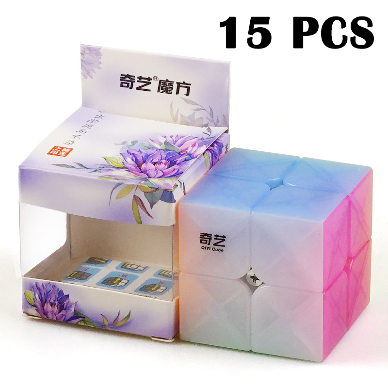 15PCS QiYi QiDiS Magic cube MiNi Cubo magico Smooth Jelly color Non sticker Puzzle cube Professional Neo Cube Toys For Children15PCS QiYi QiDiS Magic cube MiNi Cubo magico Smooth Jelly color Non sticker Puzzle cube Professional Neo Cube Toys For Children