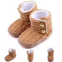 Do inverno Do Bebê Das Meninas Dos Meninos Botas De Neve Marrom, Moda Malha botas de Tornozelo, Super Quente Crianças Recém-nascidas Sapatos de Sola Macia. CX16