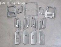 Левый руль! Для Toyota Land Cruiser Prado FJ150 2010 2018 ABS аксессуары для интерьера весь полный комплект декоративной отделкой 17 шт.