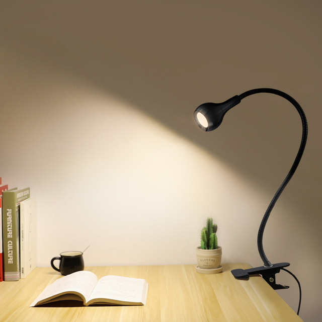 Clip Holder USB power Led desk lamp night light Flexible table lamp Study Reading bedside bedroom Book light Illumination