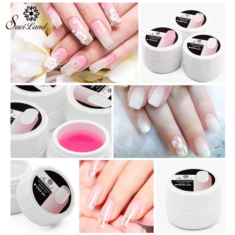 Saviland UV Builder Gel Crystal Nails Gel Polish Transparent Strong ...