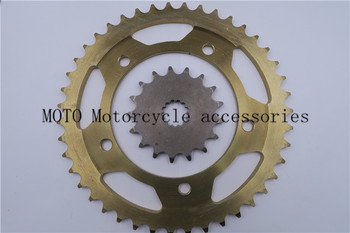 Front & Rear Motorcycle Sprocket 43 Teeth For SUZUKI GSX-R 750 00-2010 GSX-R 600 01-2010 Motorcycle 525 Chain Sprocket Set