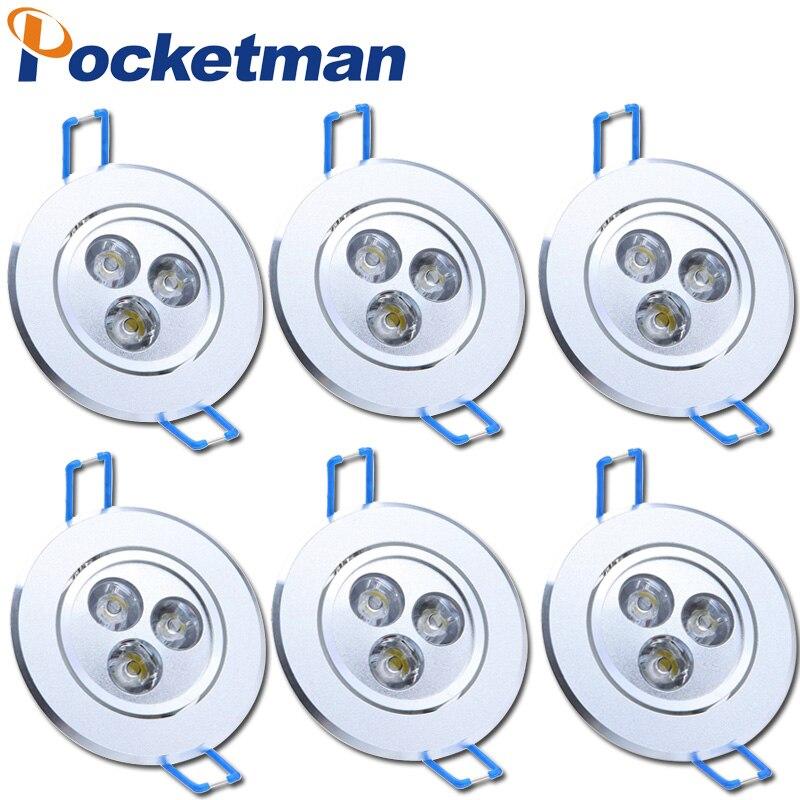 9 Вт downlight светильник 85 В-265 В светодиодный потолочный светильник Встраиваемые пятно света для украшения дома потолочный светильник AC 110 В 220 ...