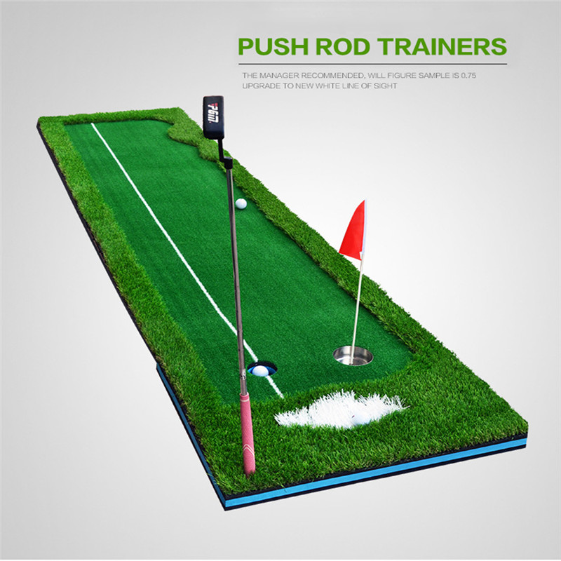 PGM Golf Putter Putting Trainer Indoor Training Equipment Golfs Ball Holder Training Aids Tool Office Green Fairway Practice Mat