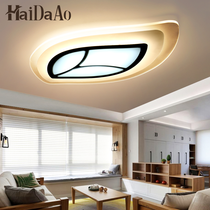 Minimalist Leaf Designer Modern led ceiling lights for living room bedroom Remote control Acrylic+Hardware LED Ceiling lamp led circular ceiling lamps chinese real wood art acrylic modern minimalist bedroom study decorated living room ceiling lights za