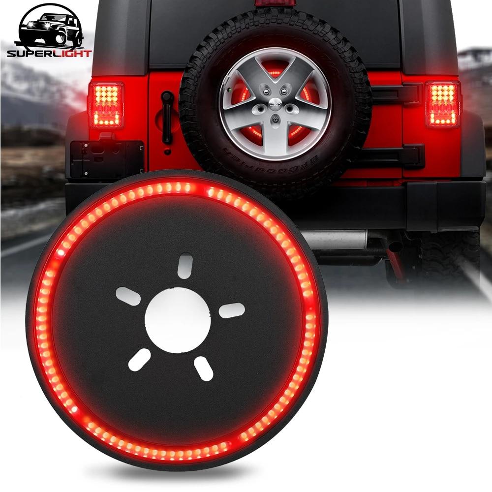 BORDAN compatible Spare Tire Brake Light LED 3rd Third Brake Light Wheel Light Tail Light Rear Light 2018 2019 JL JLU