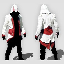 Anime Assassin's Creed Men's Connor Hoodies Cosplay Costume For Halloween