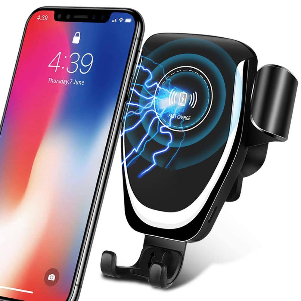 US $4.98 42% OFF|FDGAO 10W Qi Car Wireless Charger For iPhone 11 Pro X XS Max XR 8 Air Vent Fast Charging Car Phone Holder For Samsung S10 S9