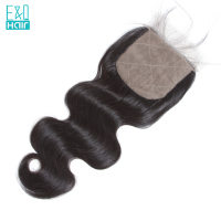 Brazilian Body Wave 4X4 Silk Base Closure With Baby Hair Free Part Natural Color Silk Top Lace Closure Bleached Knots Remy Hair