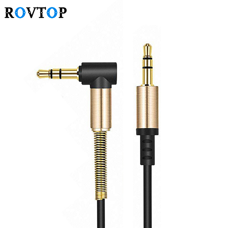 Rovtop 3.5mm Audio Cable Male-Male AUX Cable Headphone Beats Speaker For IPhone Car Male To Male AUX Cord Spring Audio Cable Z2