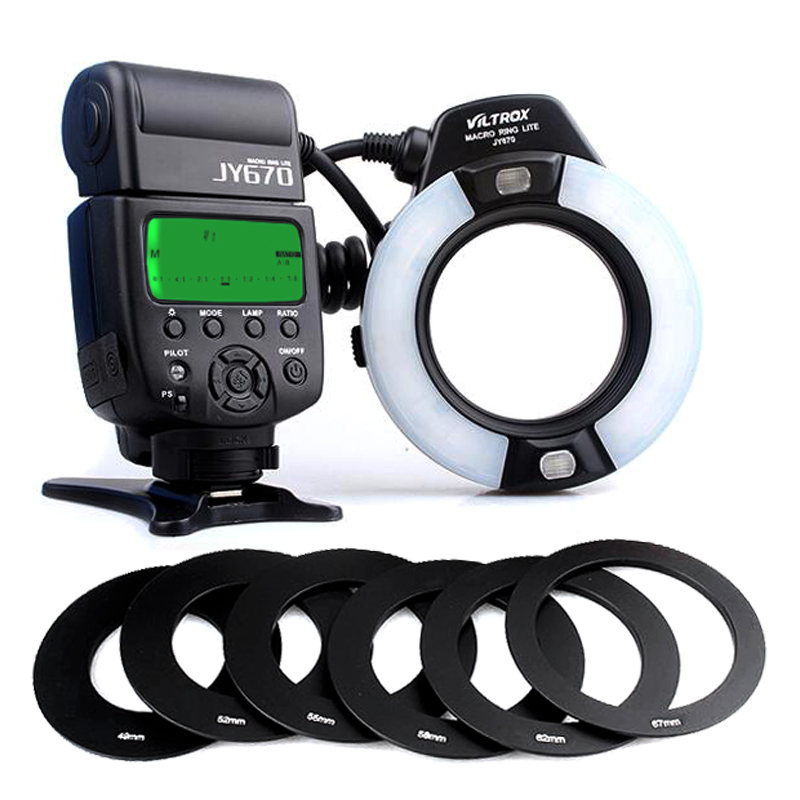 Universal Viltrox JY 670 Macro Ring Flash Light Speedlite for Canon Nikon Olympus Oral Cavity Teeth