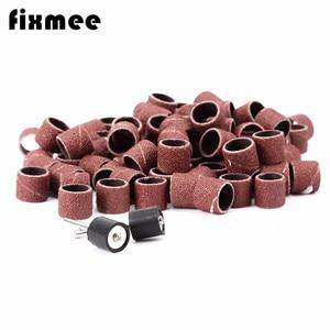 Image 2 - 100x chà nhám tay áo 1/2 Giấy chà nhám mài nhám dụng cụ Dremel Rotary giấy nhám nhám đánh bóng cho chế biến gỗ
