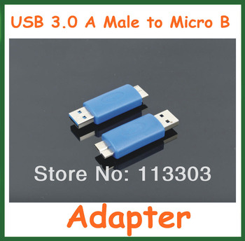 100pcs USB 3.0 A Male to Micro B Adapter USB3.0 AM to Micro B Connector Extender Converter