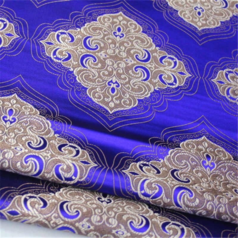 CF581 1 метр синий/красный/фиолетовый/зеленый китайский шелк из жаккардовой парчи платье Ципао в китайском стиле костюм Тан тканевые органайзеры накидка для диванной подушки