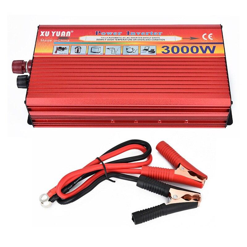 Tragbare Auto-Inverter DC 12 V Zu AC 220 V 3000 W Auto Ladegerät Power Inverter Versorgung Konverter Adapter Mit doppel Universelle Buchse