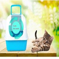 Прочный Пластик туалетов домашних животных коробка кошачий Туалет Обучение Кошки мусора Палочки Up отходов судно Caja Пластик o Grande Животные П