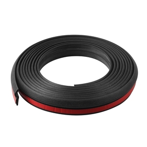 Image 4 - 2M 3M 4M Z Type Car Rubber Seal Sound Insulation Filler Adhesive Door Weatherstrip Rubber Seals Trim High Density Seal Strip
