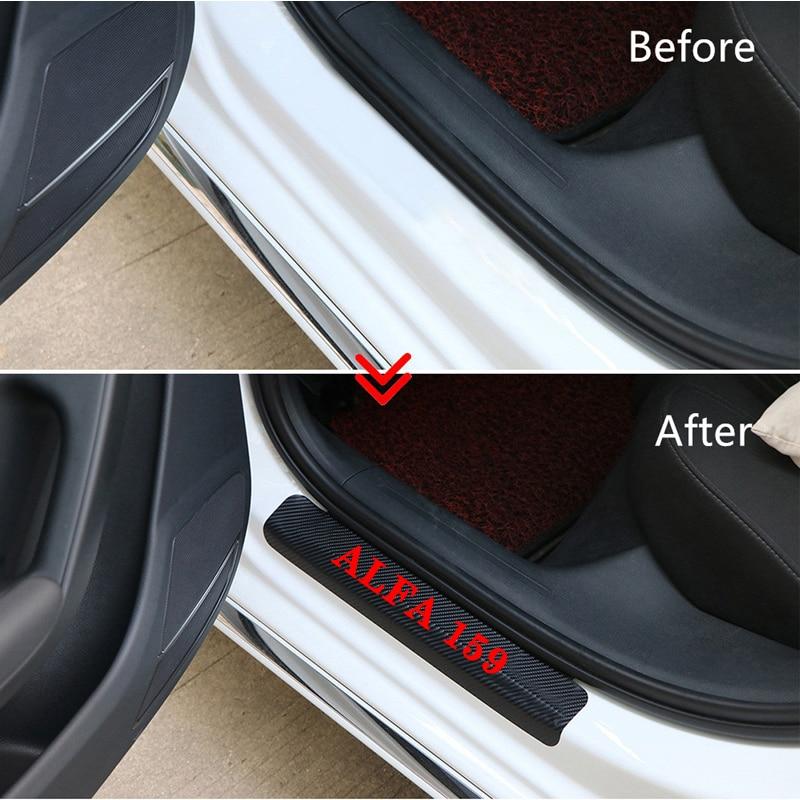 4 stücke carbon faser vinyl aufkleber Auto Tür schwellen verschleiss ...