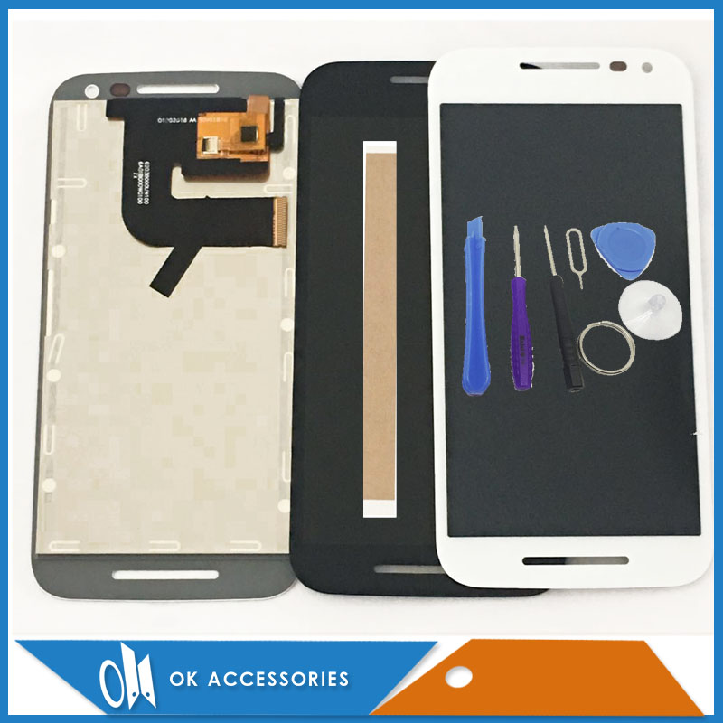 For Motorola MOTO G3 G 3rd Gen XT1542 XT1544 XT1550 XT1540 XT1541 LCD Display With Touch Screen Black White With Tools Tape