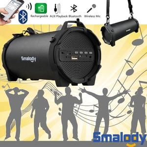 Image 3 - 블루투스 4.0 무선 스피커 6h 음악 핸즈프리 8W 빅 파워 스피커폰 내장 마이크 3.5mm 오디오 충전식 배터리