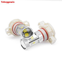 2pcs Ultra Bright White Amber Yellow 30W PSY24W Car LED Cree Chips Fog Lamp DRL Driving