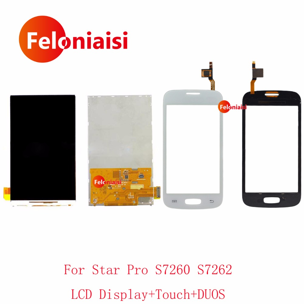 High Quality 4.0 For Samsung Galaxy Star Pro S7260 S7262 LCD Display With Touch Screen Digitizer Sensor Panel+Tracking Code
