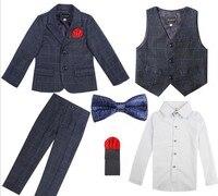 4 Pcs Boys Suits For Weddings Formal Suit For Boy Costume KS 2058
