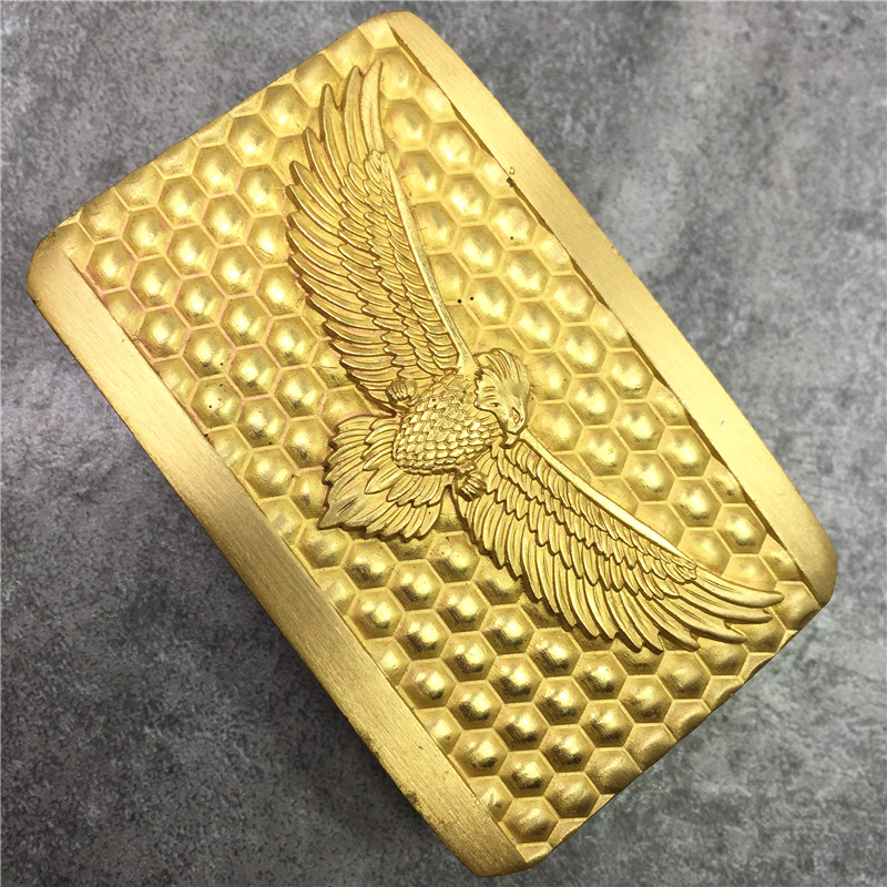 Solid Brass Eagle Belt Buckle Luxury DIY Accessories Mens Belts Buckle For Leather Men Belt Ceinture Homme BK0122