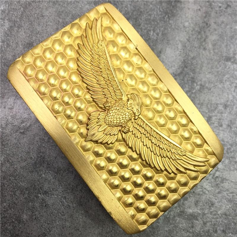 Solid Brass Eagle Belt Buckle Luxury DIY Accessories Mens Belts Buckle For Leather Men Belt Ceinture Homme BK0122
