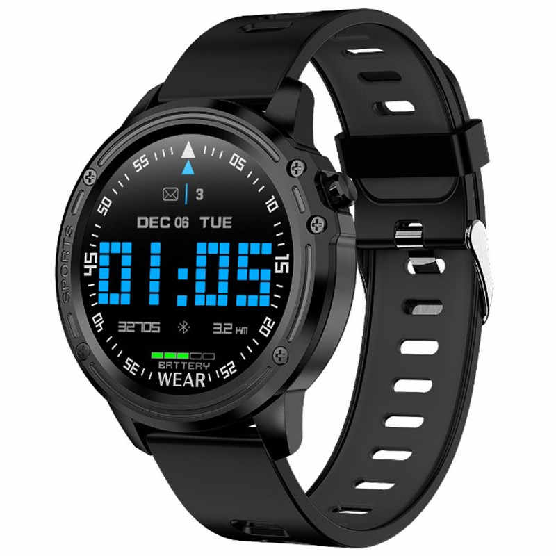 Smart Watch Men Blood Pressure IP68 Waterproof Shock Sports Watches Sport band Wristwatch Android IOS phone Male Clock wristband