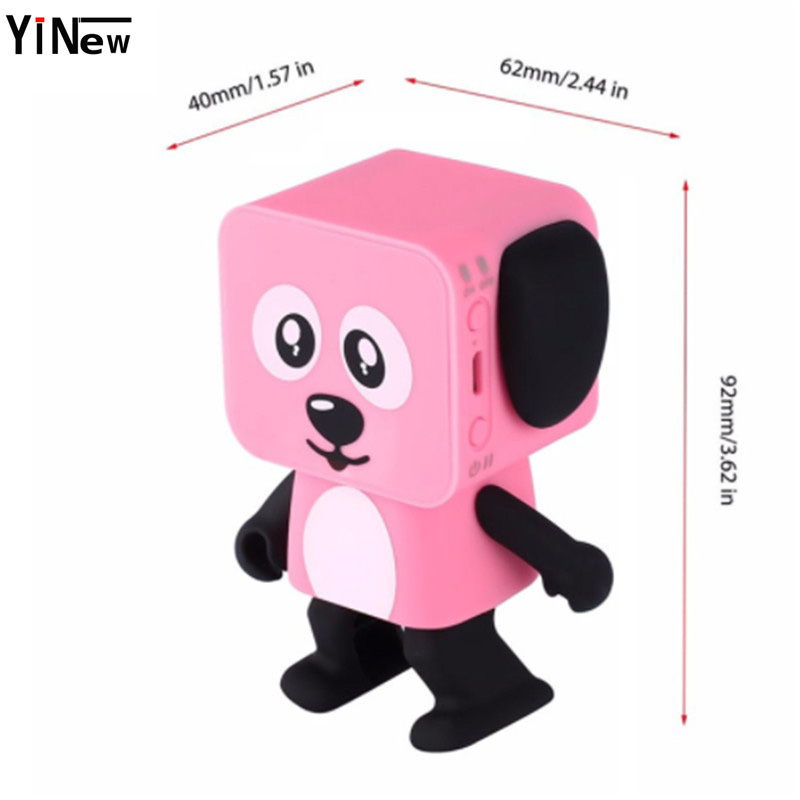 Cartoon Bluetooth Speaker Portable Dance Robot Dog sound box mini usb Speaker for Mobile Phone in Portable Speakers from Consumer Electronics