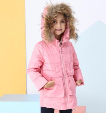 Girl hooded down jacket 2017 new winter costume for kids Raccoon Fur collar princess style down coat girls 4-15 years JX-7883 сумка lu yi beini 7883 15 23 2015 7883 15 49
