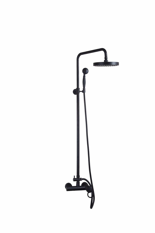 Bathroom Oil Rubbed Bronze Shower Faucet. Shower Set. Chrome Finish Brass Made Shower Set. Rain Shower Head Tub Mixer Faucet