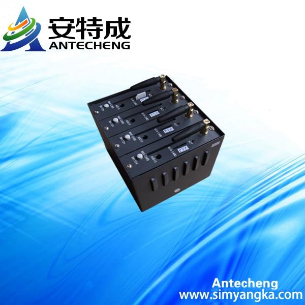 Free shipping Bulk SMS 4 Ports Wavecom Q24plus GSM GPRS Modem Pool USB quad-band Bulk SMS caster Software USSD Recharge System