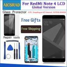 Xiaomi Redmi Note 4 용 LCD 디스플레이 + 프레임 테스트 글로벌 버전 Snapdragon 625 터치 스크린 LCD 디지타이저 Redmi Note 4X