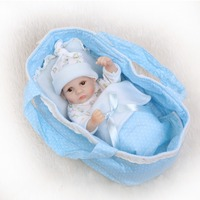 NPKCOLLECTION Full Silicone Reborn Baby Dolls Alive Lifelike Real Doll Mini Realistic Bebes Reborn Babies Girl Toy Birthday Gift
